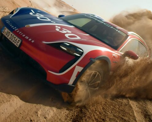 Drive2Extremes: the Taycan Turbo Cross Turismo between ice and desert